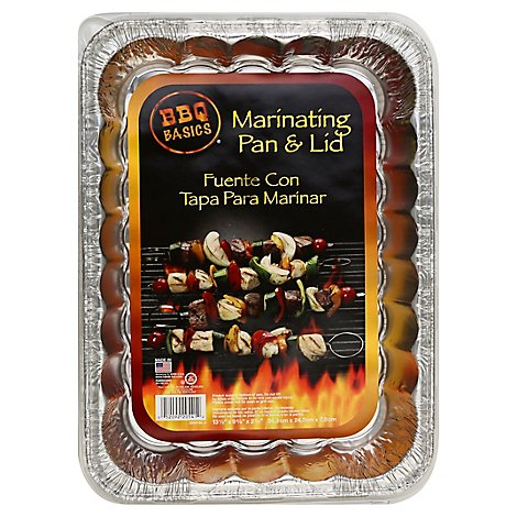 BBQ Basics Pan & Lid Marinating Wrapper - Each