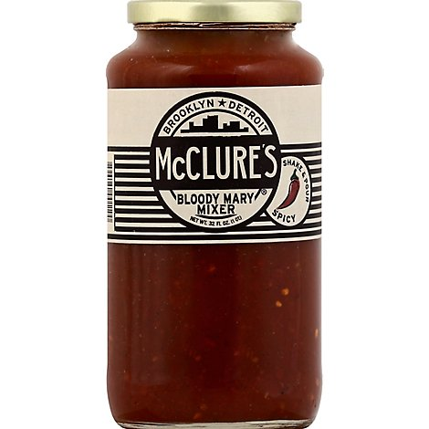 McClures Mixer Bloody Mary Spicy Jar - 32 Fl. Oz.