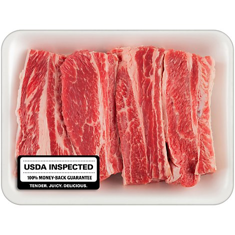 Meat Counter Beef USDA Select Beef Short Ribs Bone In - 1.25 LB