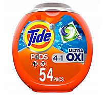 Tide Plus PODS Detergent Pacs 4In1 Ultra Oxi - 54 Count