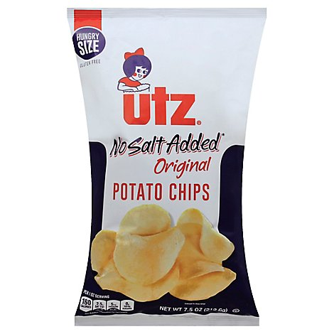 Utz Potato Chips No Salt - 7.5 Oz