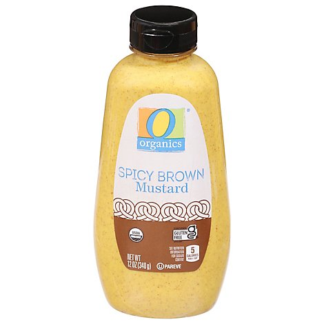 O Organics Organic Mustard Spicy Brown Bottle - 12 Oz