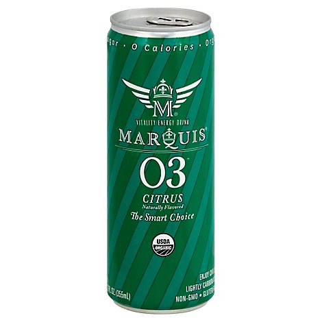 Marquis Energy Drink Organic Citrus Slim Can - 12 Fl. Oz.