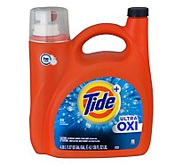 Tide Plus Liquid Laundry Detergent Ultra Oxi HE Turbo Clean 89 Loads - 138 Fl. Oz.