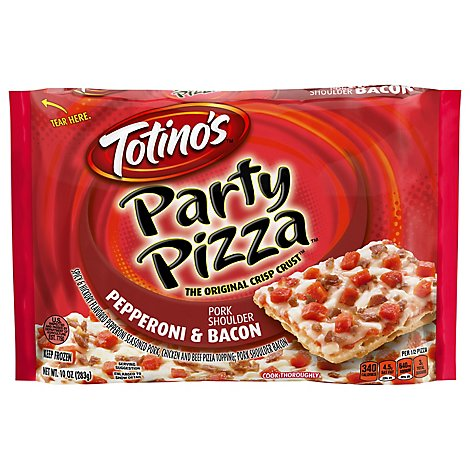 Totinos Party Pizza Bacon & Pepperoni Frozen - 10 Oz