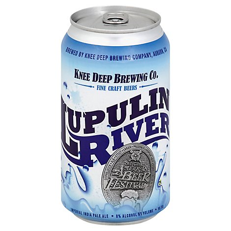 Knee Deep Brewing Company Lupulin River Imperial Ipa In Cans - 6-12 Fl. Oz.