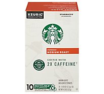 Starbucks Coffee K-Cup Pods Plus 2x Caffeine Medium Roast Box - 10-0.43 Oz
