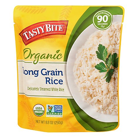 Tasty Bite Rice Organic Long Grain Microwavable Pouch - 8.8 Oz