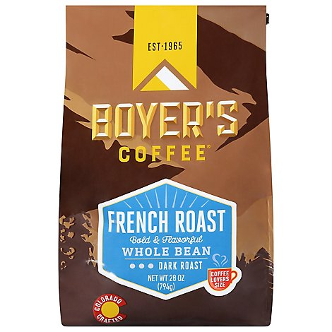 Boyers Coffee French Roast Whole Bean - 28 Oz