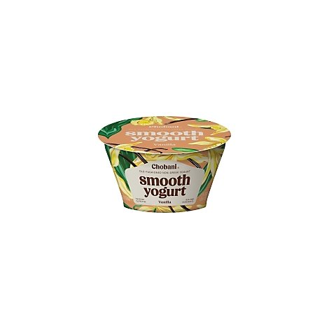 Chobani Yogurt Smooth Non-Greek Old-Fashioned Vanilla Cup - 5.3 Oz