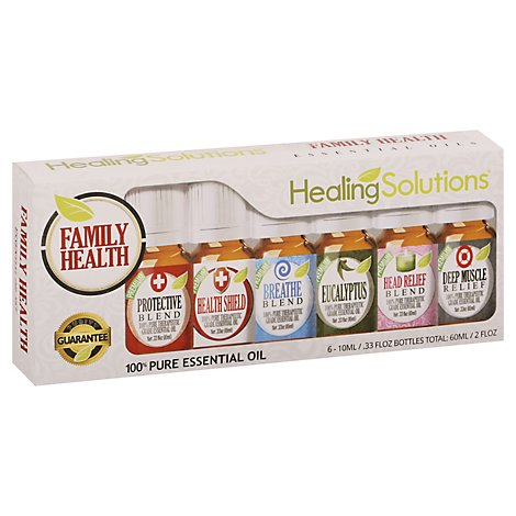 Healing Solutions Familiy Health 6 Aromatherapy Set - Each