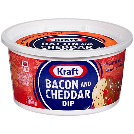 Kraft Dip Bacon And Cheddar Tub - 12 Oz