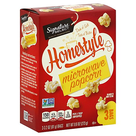 Signature SELECT Snack Popcorn Homestyle Bag - 3-3.2 Oz
