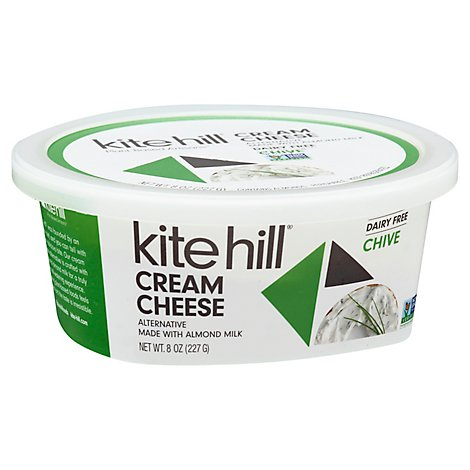 Kite Hill Spread Cream Cheese Style Almond Milk Chive Tub - 8 Oz