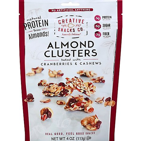 Creative Snacks Almond Clusters With Cranberry & Cashews Pouch - 4 Oz