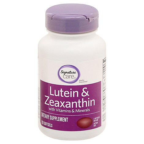 Signature Care Lutein & Zeaxanthin With Vitamin & Minerals Dietary Supplement Softgel - 120 Count