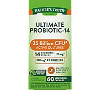 Natures Truth Vitamins Capsules Ultimate Probiotic-10 111 Mg Box - 60 Count