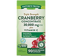 Natures Truth Vitamins Capsules Cranberry Concentrate Triple Strength 15000 Mg Box - 90 Count