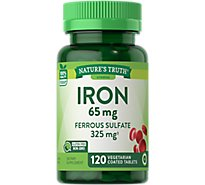 Natures Truth Vitamins Tablets Coated Iron 65 Mg Bottle - 120 Count