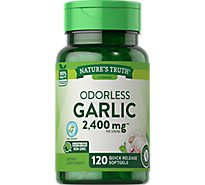 Natures Truth Vitamins Softgels Odorless Garlic High Strength 1200 Mg Bottle - 120 Count