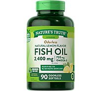 Nt Fsh Oil 1200mg Odorless Softgels - 90 Count