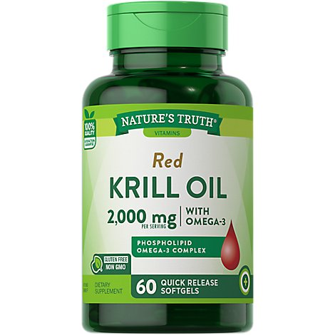 Nt Krill Oil 1000mg Softgels - 60 Count