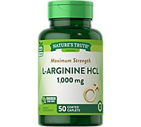 Nt L-Arginine 1000mg Tablets - 50 Count