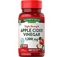 Natures Truth Vitamins Capsules Apple Cide Vinegar Triple Strength 600 Mg Bottle - 60 Count