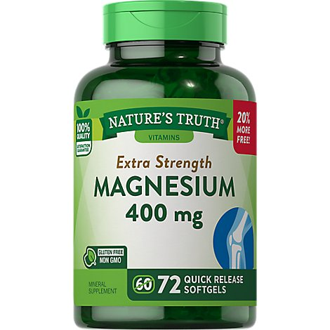 Nt Magnesium 400mg Softgel Bns - 70 Count