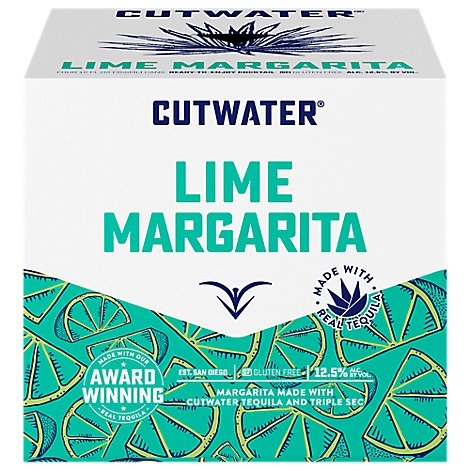 Cutwater Tequila Lime Margarita Rtd Cans - 4-12 Fl. Oz.