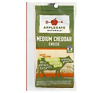 Applegate Natural Medium Cheddar Cheese Slices - 6oz