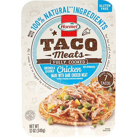 Hormel Taco Meats In A Tray Shredded Chicken - 12 Oz