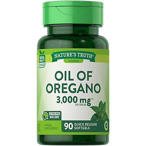 Natures Truth Vitamins Softgels Oil Of Oregano 1500 Mg Bottle - 90 Count