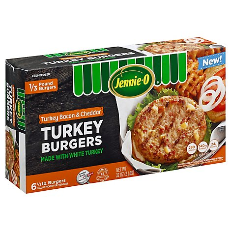 Jennie-O Turkey Store Bacon And Cheddar Turkey Burger Frozen - 32 Oz