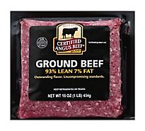 Meat Counter Beef Certified Angus Beef Ground Beef 93% Lean 7% Fat - Lb