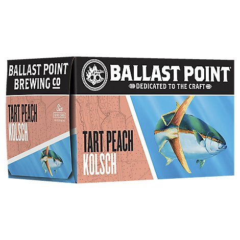 Ballast Point Craft Beer Tart Peach Kolsch German Style Pale Ale Cans - 6-12 Fl. Oz.