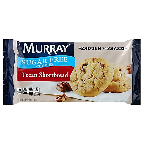MURRAY Cookies Sugar Free Pecan Shortbread With Extra Cookies Bag - 8.8 Oz
