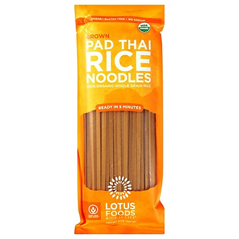 Lotus Foo Pad Thai Ndls Org Brwn Rc - 8 Oz