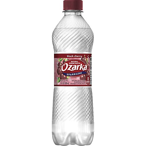 Ozarka Spring Water Sparkling Natural Black Cherry Bottle - 16.9 Fl. Oz.