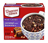 Duncan Hines Perfect Size For 1 Mix Caramel Brownie Chocolate Decadent Box - 4-2.6 Oz