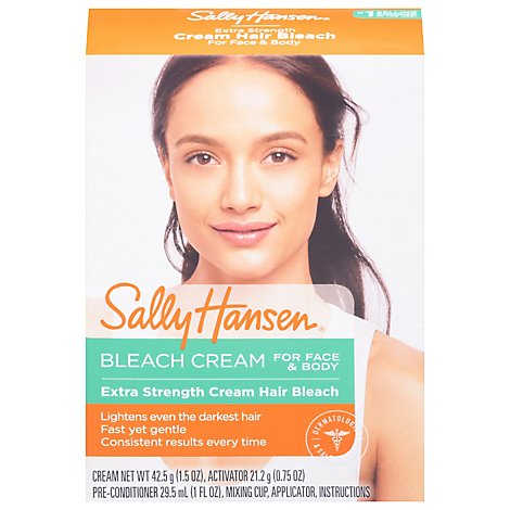 Sally Hansen Creme Hair Bleach Kit For Face & Body Extra Strength Box - Each