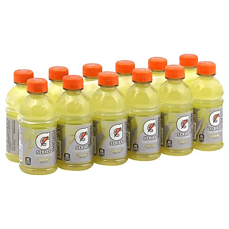 Gatorade G Series Thirst Quencher Perform 02 Lemon-Lime Bottles - 12-12 Fl. Oz.