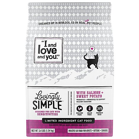 I And Love And You Cat Food Kibble Salmon Bag - 3.4 Lb