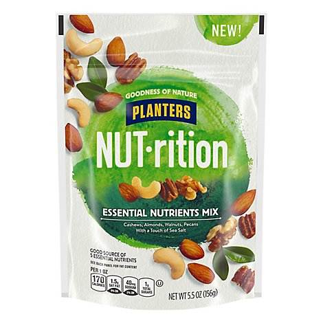 Planters NUT-rition Nut Mix Essential Nutrients Pouch - 5.5 Oz