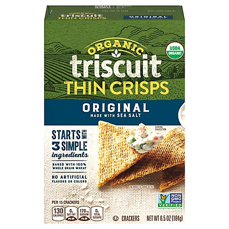 Triscuit Thin Crisps Crackers Orig Org - 6.5 Oz