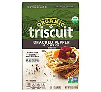 Triscuit Organic Crackers Cracked Pepper & Olive Oil - 7 Oz