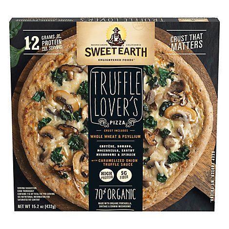 Sweet Earth Pizza Truffle Lovers Frozen - 14 Oz