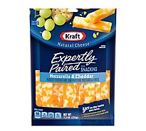 Kraft Expertly Paired Natural Cheese Sticks Mozzarella & Cheddar - 7.5 Oz