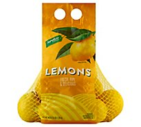 Signature Farms Lemons Prepacked Bag - 3 Lb