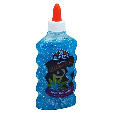 Elmers Glitter Glue Classic Washable Blue Bottle - 6 Fl. Oz.